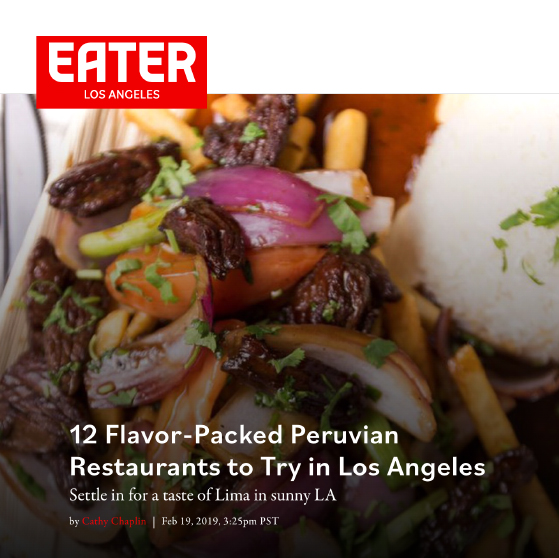 Eater Los Angeles - 12 Flavor Packed Peruvian Restaurants to Try in Los Angeles